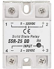 Solid State Relay, SSR-25 DD 25A 5-220VDC Solid State Relay Module Relay Board for Petrochemical Equipment,Food Machinery,Packaging Machinery,etc