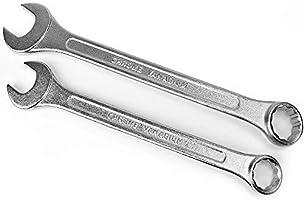Monzana Juego de 12 llaves fijas y estrellas 6-22 mm piezas herramientas de acero al cromovanadio con funda: Amazon.es: Bricolaje y herramientas