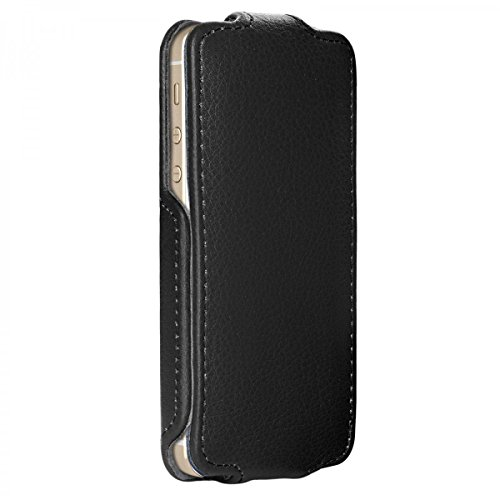 Housse pour iPhone SE Etui de protection compatible avec Apple iPhone 5 / 5S Flip Case Cover Sac Poche similicuir, noir