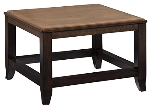 "Signature Design by Ashley T388-8 Mandoro Coffee Table, Two Tone Brown - Dimension: 28""W x 28""D x 19""H Style: Casual Series: mandoro - living-room-furniture, living-room, coffee-tables - 41cTKv5E3jL -"
