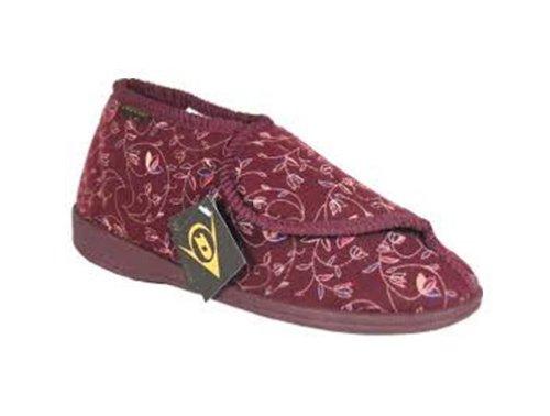 Ability Superstore - Pantofola Arthur taglia 6 (39), colore rosso borgogna