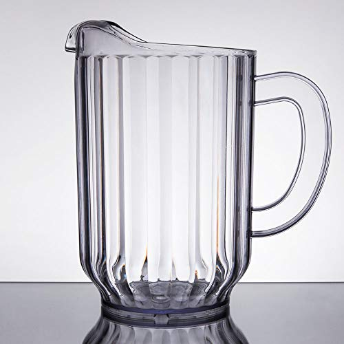 (Choice 60 oz. Clear SAN Plastic Water Pitcher, BPA free)