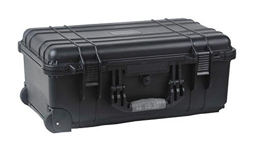 DURATOOL 22-24130 Equipment Case, Weatherproof, Polypropylene, Black, Foam Insert, 22 inch x 13.5 inch x 9 inch