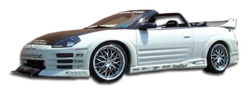 Duraflex ED-CFL-453 Shine Side Skirts Rocker Panels - 2 Piece Body Kit - Compatible For Mitsubishi Eclipse 2000-2005