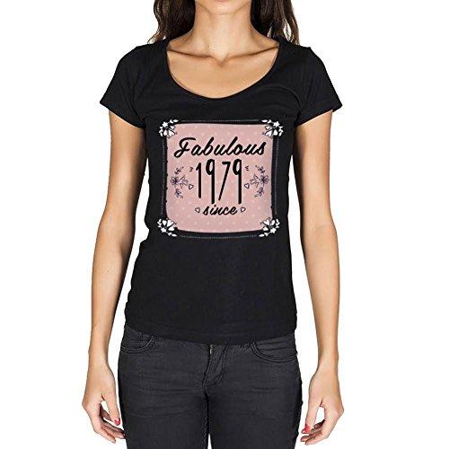 Fabulous Since 1979 Mujer Camiseta Negro Regalo De ...