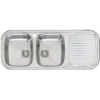 Reginox Rl201s Regent 30 Double Sink And Drainer Stainless Steel Rev