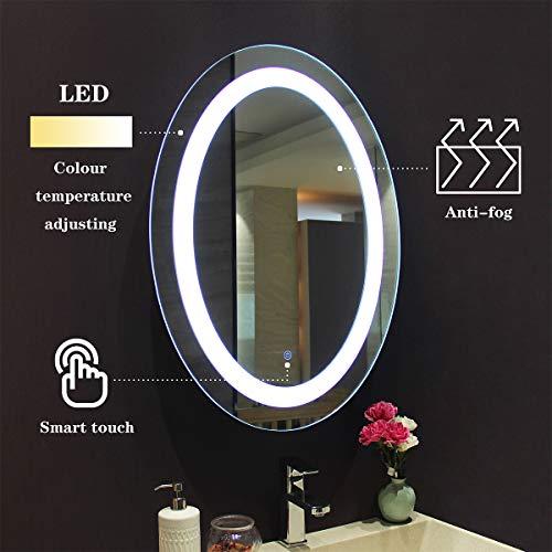 MIRPLUS Bathroom Vanity Mirror, Wall Mounted LED Backlit 24 x 32 Inch, -