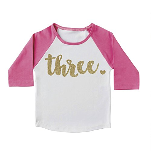 Girl Third Birthday Outfit, Third Birthday Shirt, Three Year Old Outfit (4t)