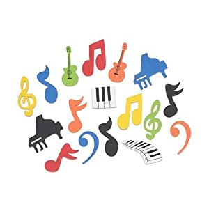 Music Foam Sticker Shapes by Shindigz