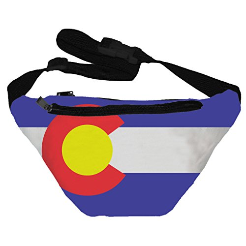 [Funny Guy Mugs Colorado Flag Fanny Pack] (Easy Halloween Costume Ideas For Guys)