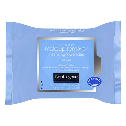 Makeup Remover Cleansing Towelettes Refill - Neutrogena Makeup Remover Cleansing Towelettes, Daily Face Wipes to Remove Dirt, Oil, Makeup & Waterproof Mascara, 25 ct.