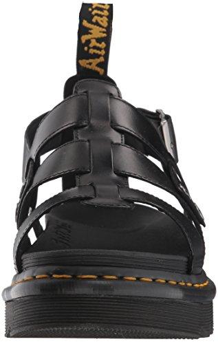 Martens black Adulte 001 Bout Mixte Brando Ouvert Terry Sandales Noir Dr qdfRCq