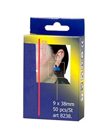 Maya TTD2P - Tiritas Detectables para Piercings, 50 Unidades, Azul