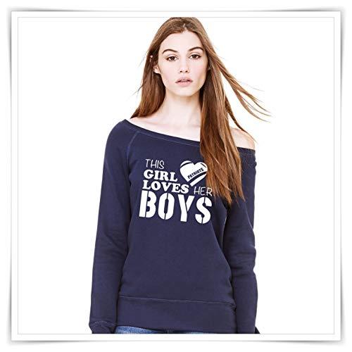 This Girl Loves Her Boys. New England Patriots Inspired Shirt. Patriots Sweatshirt.