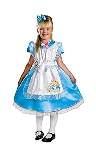 Disney Princess Alice In Wonderland - Deluxe Child Costume Dress Up Set - Size Child Small 4-6X (Alice In Wonderland Childrens Costumes)