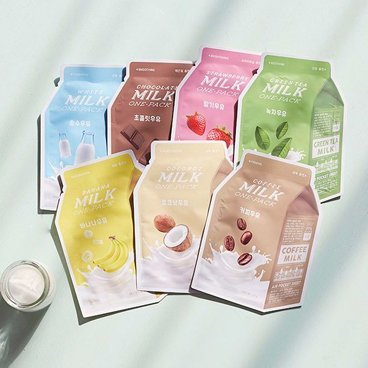 A'PIEU Milk One Pack Sheet Mask Set (7 Sheets) from APIEU