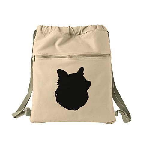 lhouette Canvas Dyed Sack Backpack Bag ()