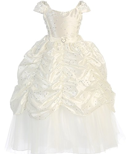 Ivory Embroidered Taffeta Dress - 8