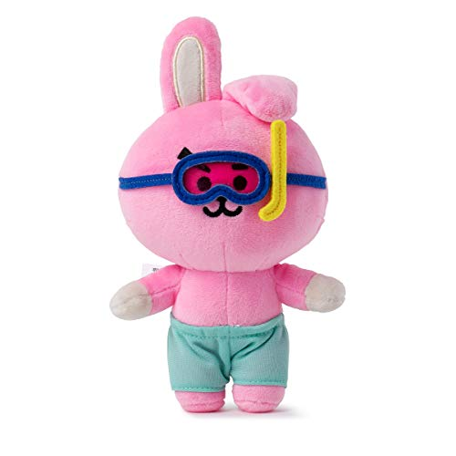 BT21 Official Merchandise by Line Friends - Cooky Character Bon Voyage Summer Standing Plush Dolls