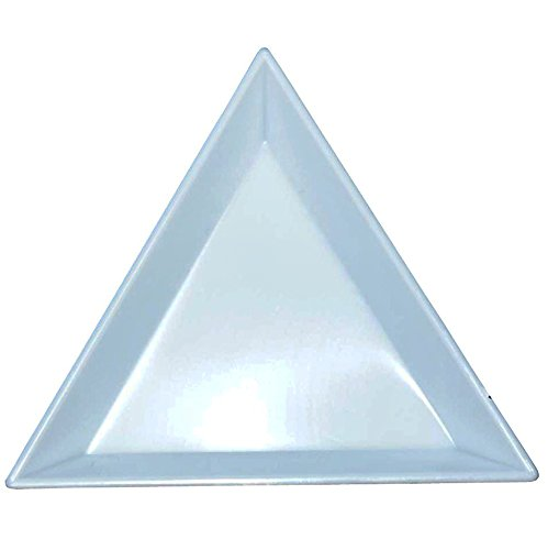BEADSNFASHION Beading Jewellery Making Plastic Tray Triangle Shapes, Size: 3x3x3 nch, Pack Of 20 Pcs