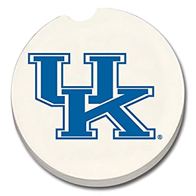 Kentucky Wildcats Absorbent Stone Car Coaster - Set of 2