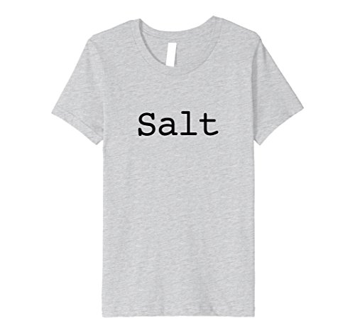 Kids Salt Costume Shirt for Halloween Salt and Pepper Costumes 6 Heather (Salt Child Costumes)