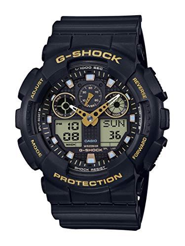Casio Men's G-Shock XL Series Japanese Quartz Watch with Silicone Strap, Black, 28 (Model: GA-100GBX-1A9) 1