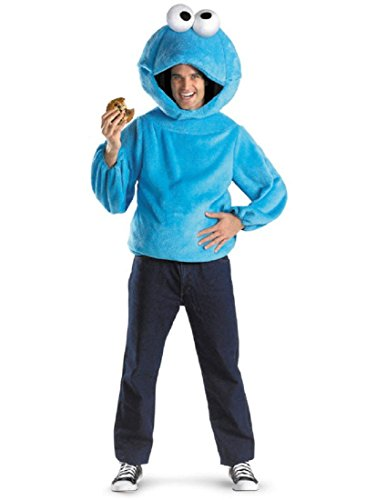 Cookie Monster Adult Costume Size X-Large (42-46) Blue ()