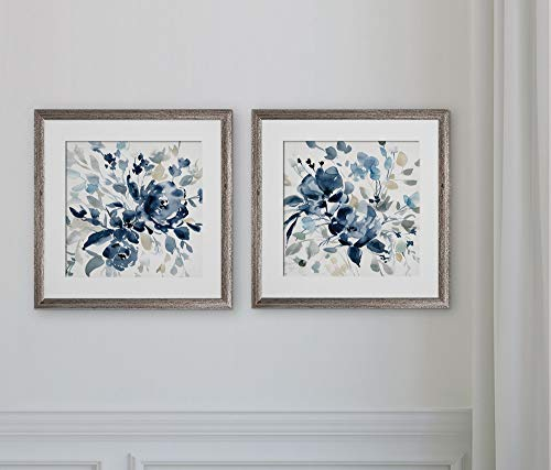 2 Piece Set Poster - WEXFORD HOME Indigo Garden I -2 Piece Set Art Print, 16X16,