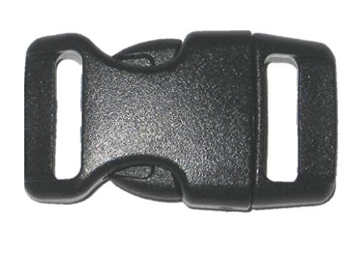 5/8'' Contoured Side Release Buckles for Paracord Bracelets Multiple Color and Quantity (black, 10 pack)