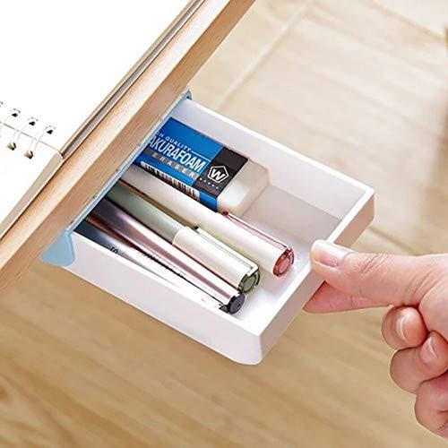 Self-Adhesive Drawer Pop-up Tray Desk Hidden Storage Desktop Organizer Stationery