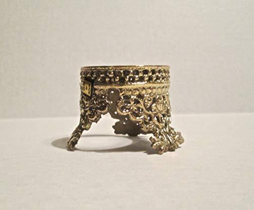 G.I.I Solid Brass S. Crown Design Egg Holder Crystal Ball Stand, Gemstone -