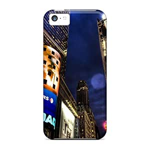 Fashionable Style Case Cover Skin For Iphone 5c- Nasdaq Stock Market New York
