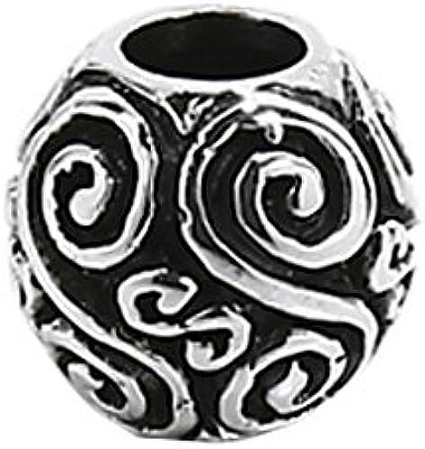 925 STERLING SILBER Keltische Gothic Bartperle und Haarzopfperle Nyi 7139