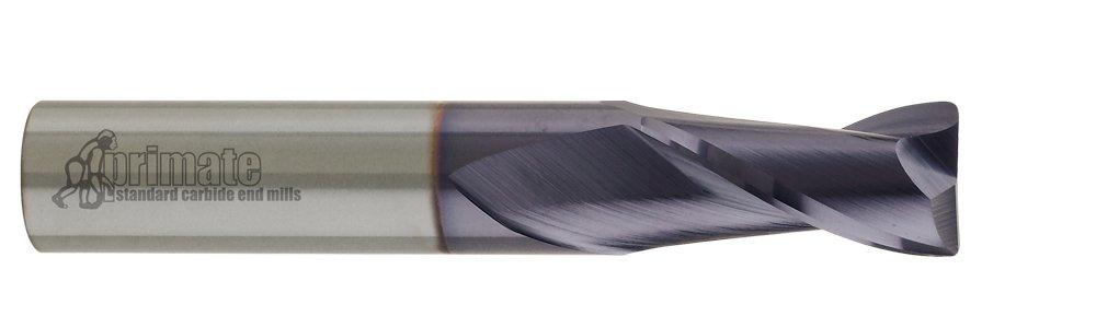 .020 Radius 1-1//2 LOC 2 Flute TiCN Coating 4 OAL 1 Diameter CGC Tools CEM10R2020TICN Primate Radiused Corner End Mill