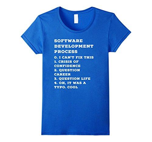 Womens Software Developement Computer Programmer Shirt Small Royal Blue