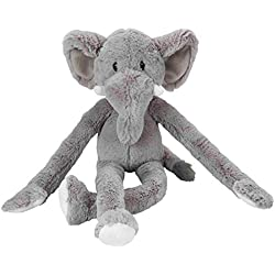 Swingin Safari 19-Inch Large Plush Dog Toy with Extra Long Arms and Legs with Squeakers