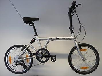 edelweiss S2 Bicicleta Plegable con Suspensión Neumática - Color Plateado Mate