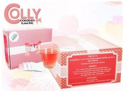 COLLY PINK Collagen Dietary supplement drink Strawberry flavor Collagen peptide