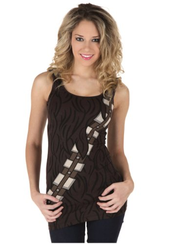 Star Wars Chewbacca Costume Tank Top Shirt, Juniors Large (Star Wars Chewbacca Costume)