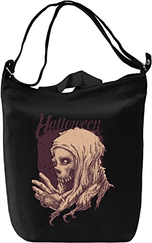 Halloween skull Borsa Giornaliera Canvas Canvas Day Bag| 100% Premium Cotton Canvas| DTG Printing|