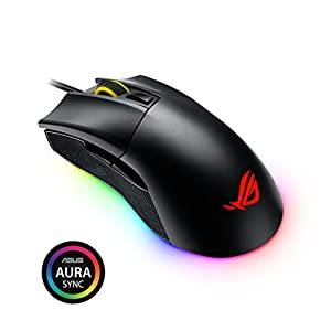 ASUS ROG Gladius II Origin Wired USB Optical Ergonomic FPS Gaming Mouse featuring Aura Sync RGB, 12000 DPI Optical, 50G…