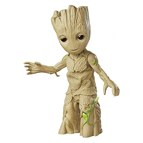 Bring the ultra-groovy style of Guardians of the Galaxy to life with this music-playing, sound-detecting, limb-shaking Dancing Groot! This 11.5-inch Dancing Groot figure plays a clip from the upcoming Guardians of Galaxy Volume 2 movie soundt...