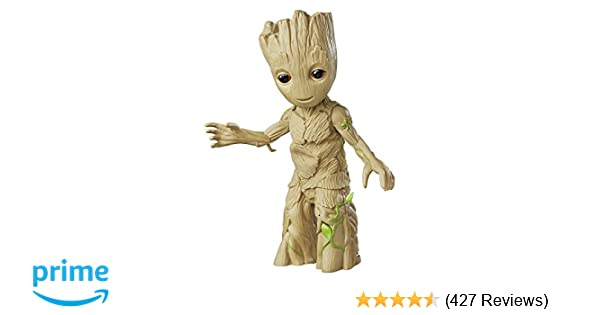 e545771d Amazon.com: Marvel Guardians of the Galaxy Dancing Groot: Toys & Games