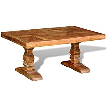 070b304f379d Festnight Coffee Table Reclaimed Wood Vintage Sofa and Couch End Side Table  Pure Handmade Home Living