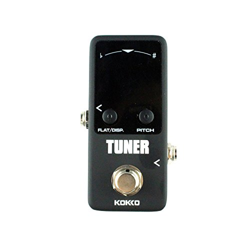 Guitar Mini Effects Pedal Tuner - Chromatic Tuner Pedal High Definition Color Screen with Super Fast Stable and Accurate Tuning for Guitar and Bass - FTN2 by kokko