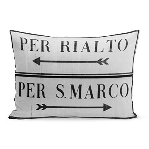 Aikul Pillowcase Marks Venice Italy Sign for Rialto San Marco Europe Pillowcases Bedding Decoration pillowslip King Size 20 x 36 inchs Throw Pillow case Covers