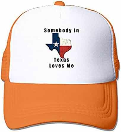 fa56c1d2 Somebody in Texas Loves Me Mesh Trucker Caps/Hats Adjustable for Unisex  Black