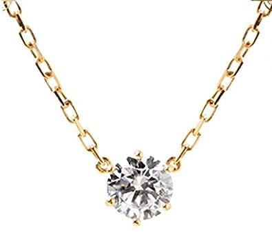 Amazon gowe 18k rose gold 02ct diamond pendant simple 6 prong gowe 18k rose gold 02ct diamond pendant simple 6 prong solitaire natural diamond pendant necklace aloadofball Images