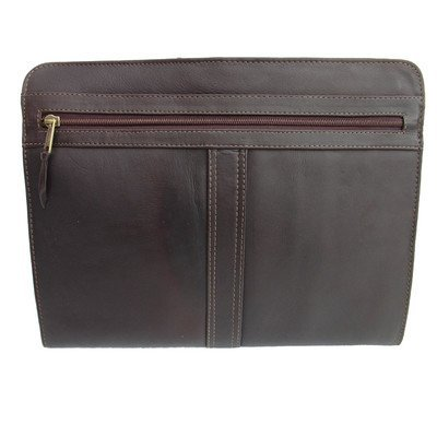 Piel Leather Entrepeneur Three-Way Envelope Padfolio Color: Chocolate by Piel Leather